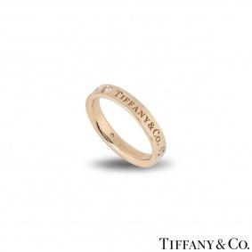 Tiffany & Co. Rose Gold Diamond Band Ring